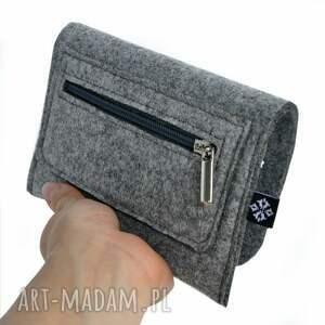 ażurowy portfele portfel z filcu - wzór vol