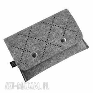 wyjątkowe portfele filc portfel z filcu - ażurowy wzór vol
