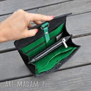 niebanalne portfele filcowy portfel z filcu - grafitowy