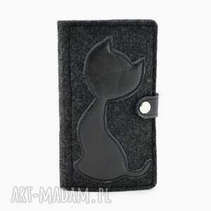 gustowne portfele kot portfel z kotem grafit - midi