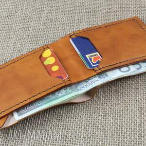 brązowe portfele portfel ze skóry na 12 kart