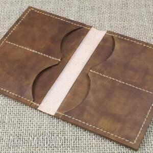 Bruno Leatherworks frapujące portfele portfel ze skóry z miejscem