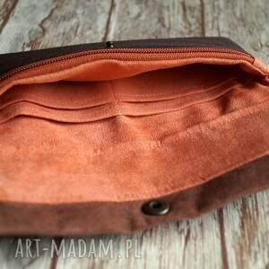 pomarańczowe portfele portfel portfelik