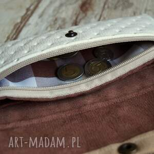 portfel portfele brązowe portfelik z ekoskóry