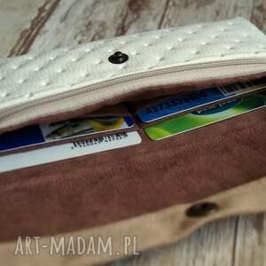 białe portfele portmonetka portfelik z ekoskóry