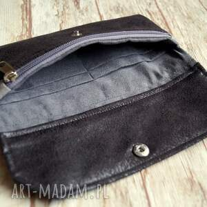 portmonetka portfele czarne portfelik z ekozamszu