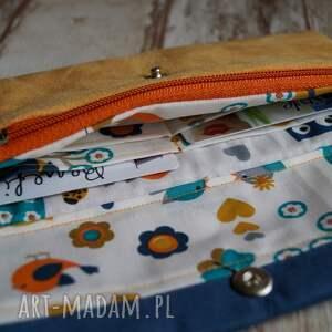 niebieskie portfele ekozamsz portfelik z ekozamszu