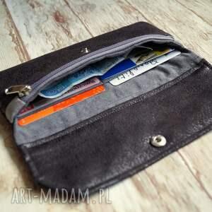 unikatowe portfele elegancka portfelik z ekozamszu
