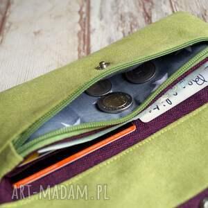 zielone portfele gwiazdki portfelik z ekozamszu