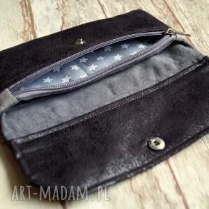 szare portfele nubuk portfelik z ekozamszu