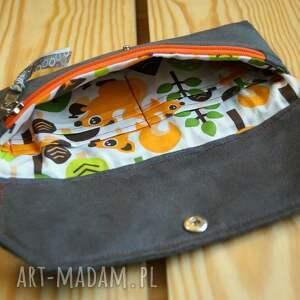 zielone portfele portfel portfelik z ekozamszu