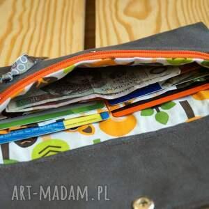 ręcznie wykonane portfele portmonetka portfelik z ekozamszu