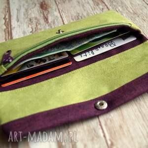 wyraziste portfele portmonetka portfelik z ekozamszu