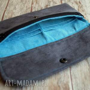 szare portfele portmonetka portfelik z ekozamszu