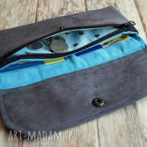 niesztampowe portfele prezent portfelik z ekozamszu