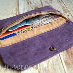 intrygujące portfele nubuk portfelik z ekozamszu