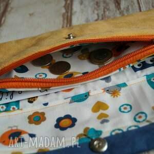 portfel portfele żółte portfelik z ekozamszu