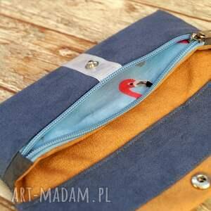 niebieskie portfele portmonetka portfelik z ekozamszu