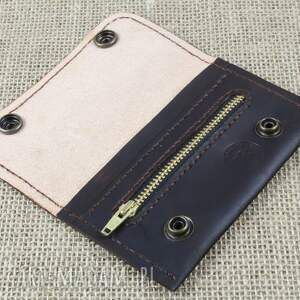 Bruno Leatherworks Portfelik z kieszonką na suwak - portfel skóra
