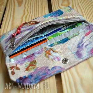 beżowe portfele portmonetka portfelik