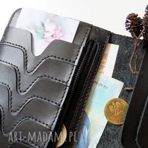 czarne portfele pormonetka portmonetka na karty i dokumenty
