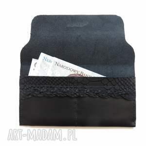 hand made portfele portmonetka skórzana z wzorem skóry