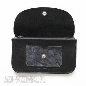 ciekawe portmonetka skórzana czarna