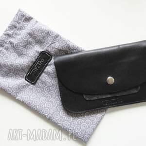 portfel portfele portmonetka skórzana czarna