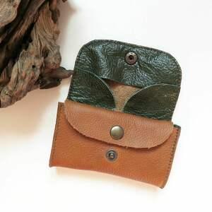 TENARO zielone portfele mini portmonetka skórzana