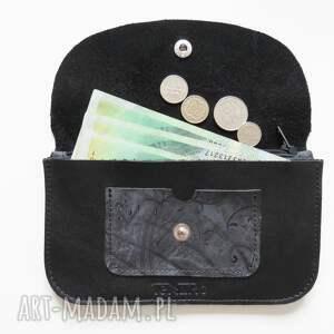 portfele portfel portmonetka skórzana czarna