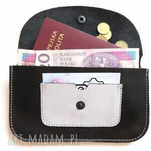 eleganckie portfele rękodzieło portmonetka skórzana