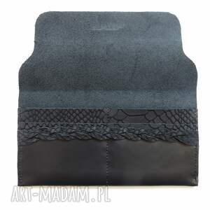portfele rękodzieło portmonetka skórzana z wzorem skóry