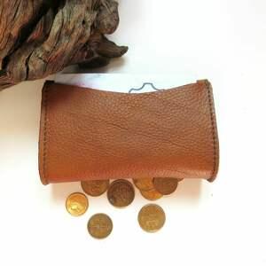 rękodzieło portfele portmonetka skórzana mini