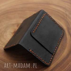 brązowe portfele portfel ręcznie wykonany na karty