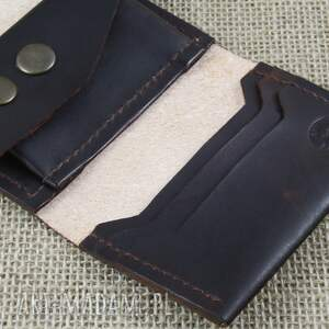 brązowe portfele skóra składany skórzany portfel