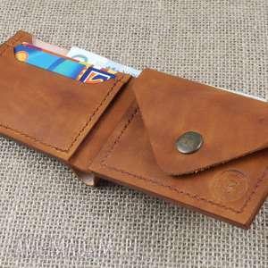 czarne męski skórzany portfel