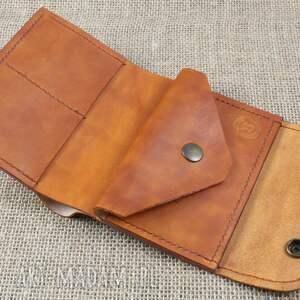 brązowe portfele portfelik skórzany portfel