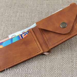 portfel portfele brązowe skórzany