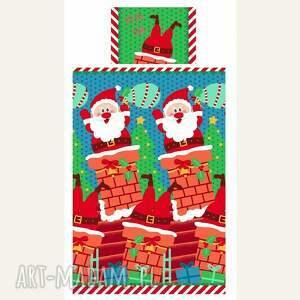 pomysły na upominki świąteczne pościel świąteczna - mikołaj