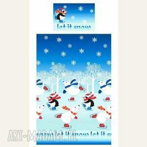 pomysł co pod choinkę prezent pościel świąteczna - let it snow