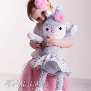 ręczne wykonanie pomysł-na-prezent przytulanka dziecięca królik