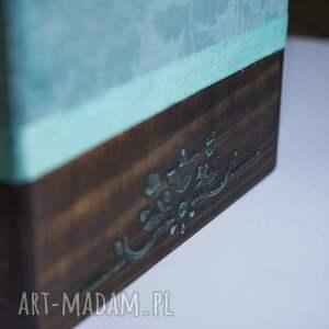 brązowe pudełka pudełko chustecznik z tasiemką