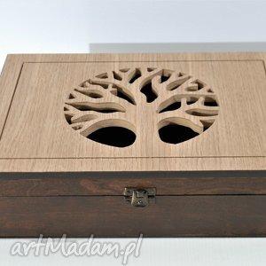 brązowe pudełka drzewo - drewniana skrzynka