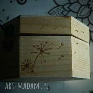 szkatułka pudełka różowe kwietne pudełko - drewniane