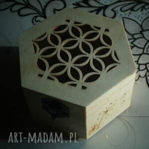 nietuzinkowe pudełka szkatułka kwietne pudełko - drewniane