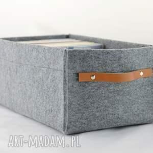 brązowe pudełka pojemnik na płyty dvd ze skórzaną