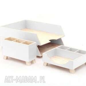 hand made pudełka biurko przyborniki na - organizery