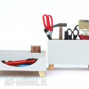 szkoła pudełka przyborniki na biurko - organizery