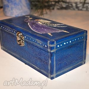 niebieskie pudełka anioł pudełko