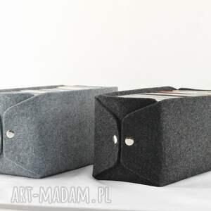 czarne pudełka pudełko filcowe do przechowywania płyt cd